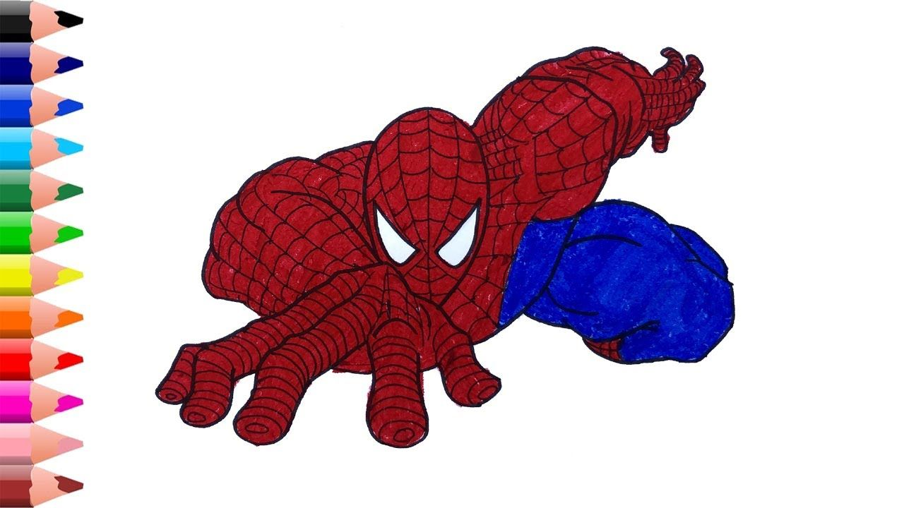 Spider Man Drawing Easy Spiderman Coloring Pages Coloring Videos For In 2020 Spiderman Coloring Easy Drawings Coloring Pages