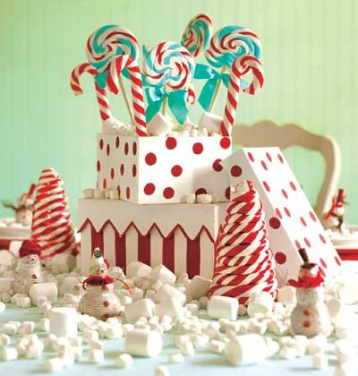 Christmas Centerpieces Holidays Pinterest Candy centerpieces