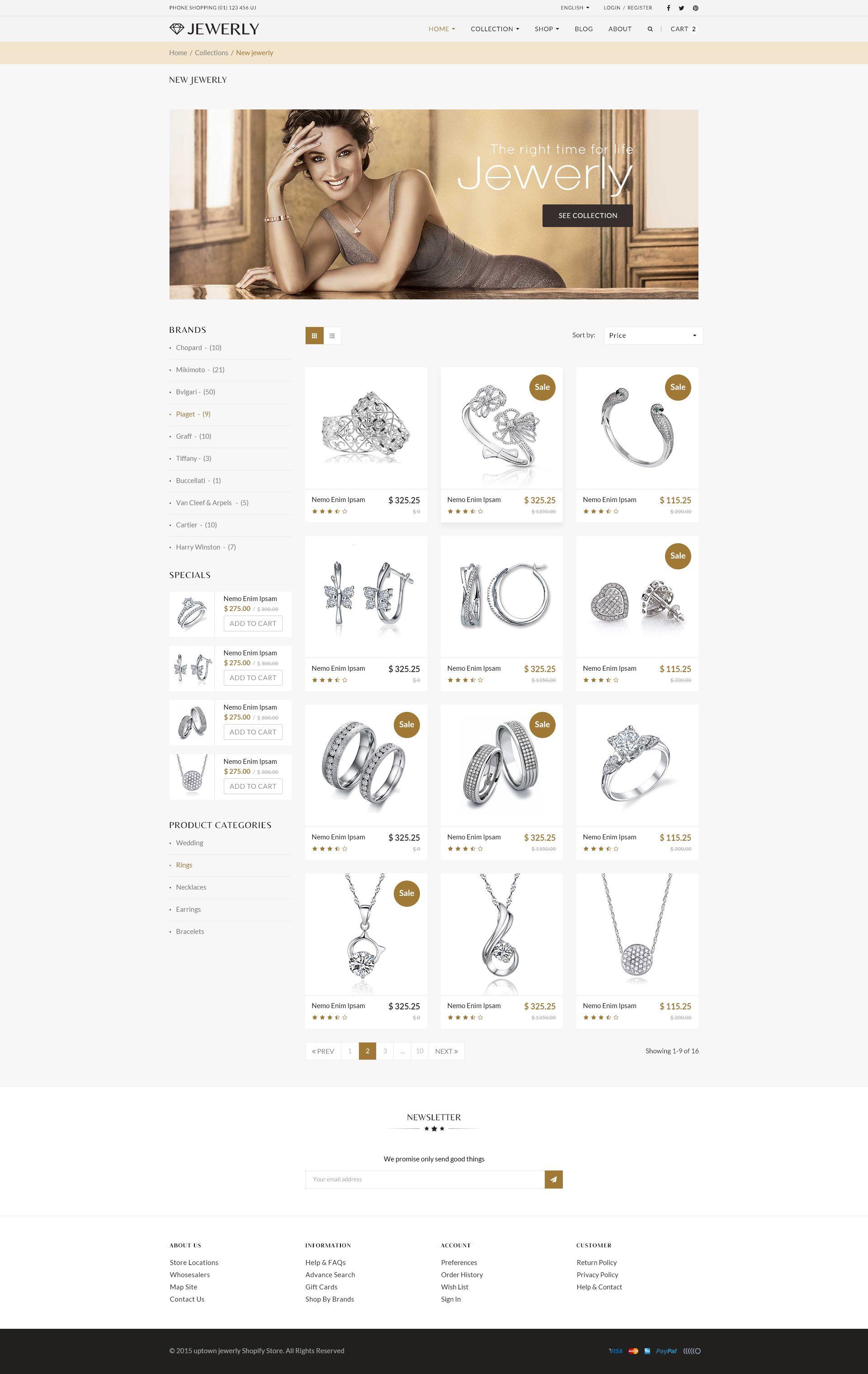 Jewelry Responsive Opencart 2.3 3.x Theme Opencart,