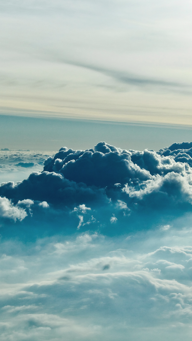 Blue Clouds Android and iPhone Wallpaper Lockscreen HD 4K