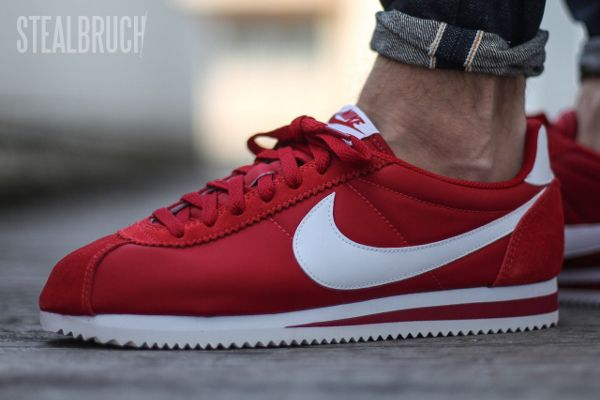 the latest 463fa 1267c Nike Cortez Nylon Gym Red pas cher (2)