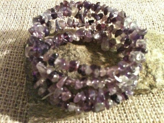 Oval Multi Strand Purple Amethyst & Fluorite by MetalsByMelissa, $20.00 https://www.etsy.com/listing/121652617/oval-multi-strand-purple-amethyst