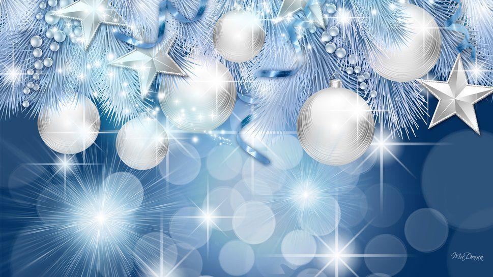 destellos de navidad azul wallpaper