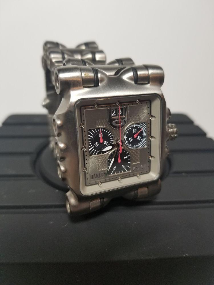 50bb85679aa Oakley Minute Machine MM Titanium Watch Silver Face Oakley Watch 10 ...