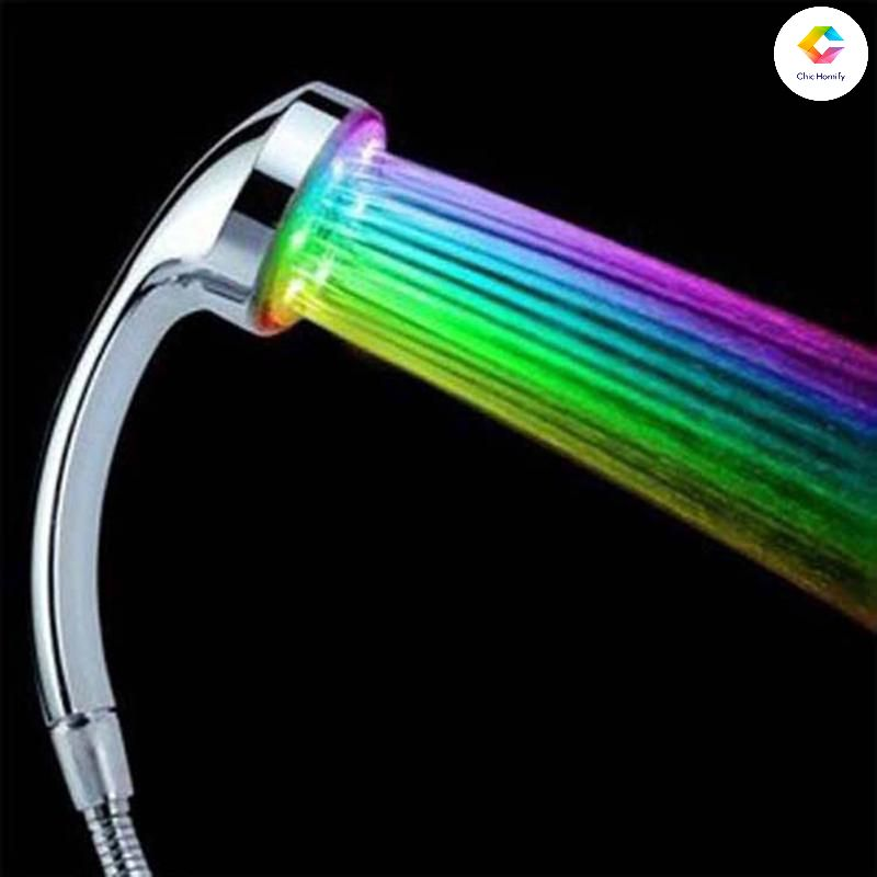 Led Automatic Rainfall Shower Head With 7 Changeable Colors Led Shower Head Shower Heads Rainfall Shower