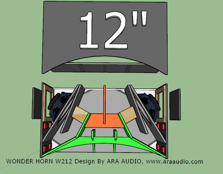 Skema Box Wonder Horn W212 12 Inch Rumahan Ara Audio Desain Audio Wonder