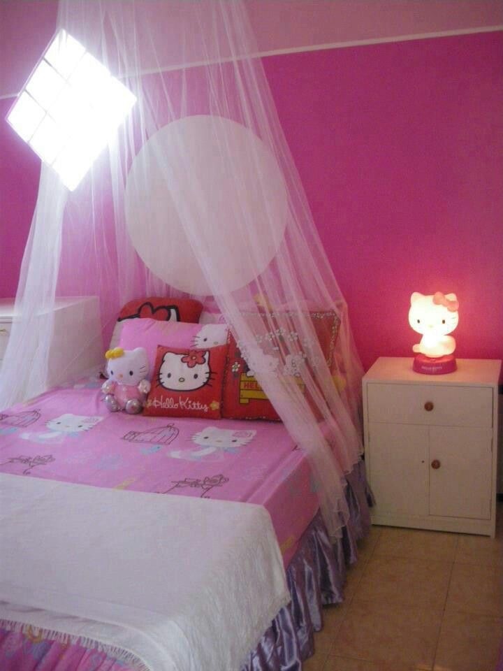 For A Little Girl  Room Ideas  Pinterest  Room Ideas And Room Adorable Hello Kitty Bedroom Designs 2018