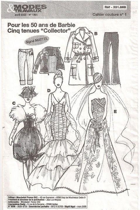 Free Copy of Pattern - Modes Travaux | BARBIE | Pinterest | Barbie ...