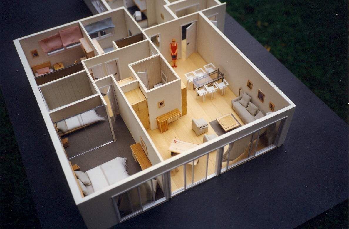 Maqueta departamento escala 1 25 maquetas interiorismo for Maquetas de apartamentos modernos