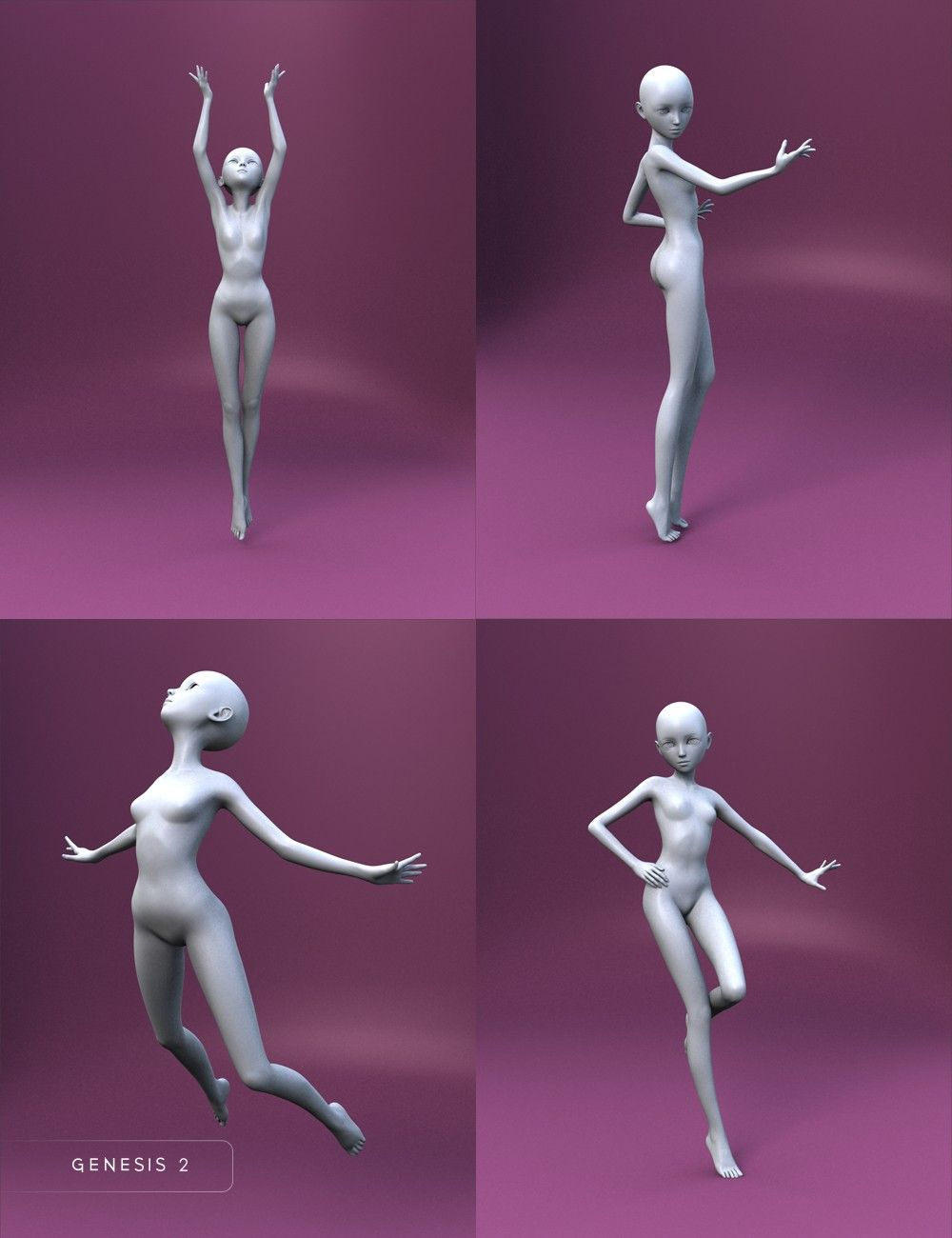 Bell Anime Poses For Keiko 6 And Aiko 6 3d Models And 3d Software By Daz 3d Anime Poses Art Reference Poses Drawings