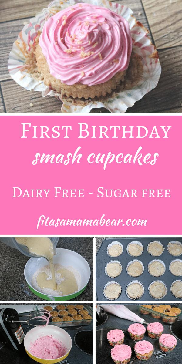 Astounding Healthy First Birthday Smash Cake Dairy Free Sugar Free Recipe Funny Birthday Cards Online Amentibdeldamsfinfo