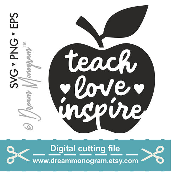 Download Teach love inspire Svg Teacher Svg Teach Teacher life Svg ...