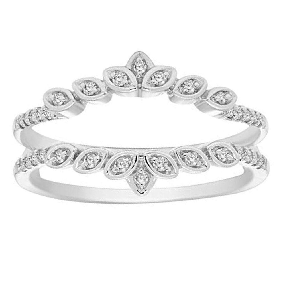 0.45Ct Round Cut Diamond 14K Yellow Gold Over Wedding Band Enhancer Guard Ring