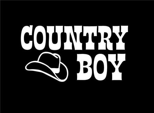 Country Boy With Cowboy Window Decal Customstickershopcom - Cowboy custom vinyl decals for trucks