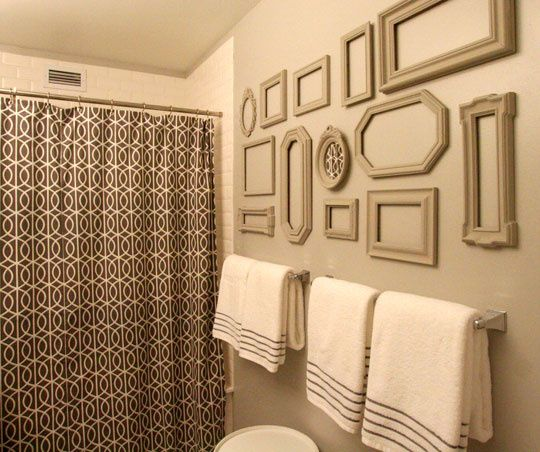 Neutral Bathroom With Frame Collage Love With Images Home