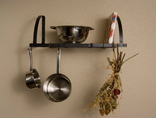 Expandable Wall Mount Pot Rack Shelf Racks, Kitchenware. Product by :Advantage Components. Model WMR2001. Ship to US only.  #Advantage_Components #Home