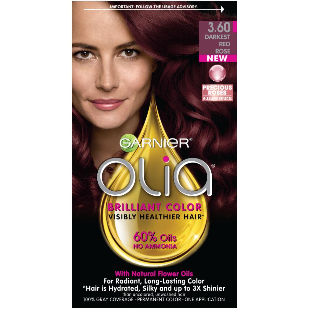 Garnier Olia Oil Powered Permanent Hair Color, 3.60