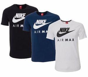Sports Para Hombre Azul Max Top A Logo Nike Air Nuevo Camiseta q605wAx