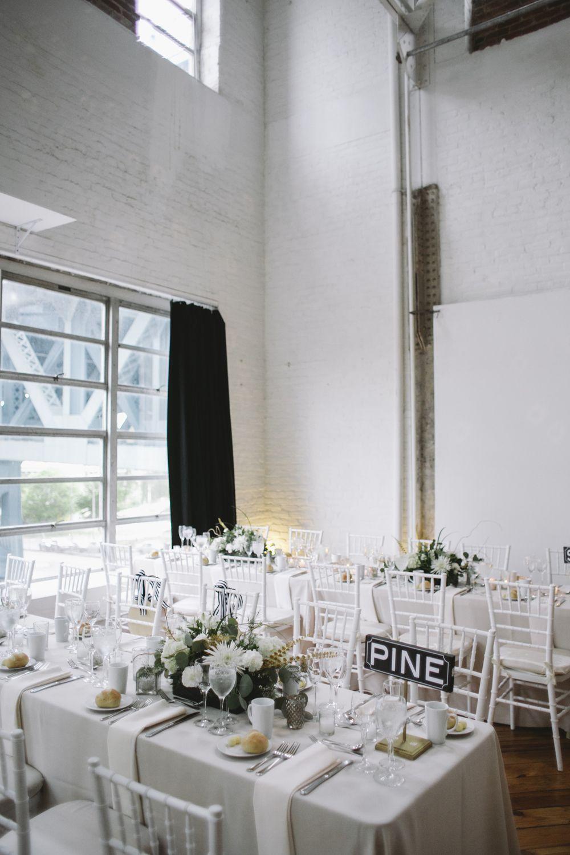 Modern White Industrial Reception Venue | Reception, Philadelphia ...