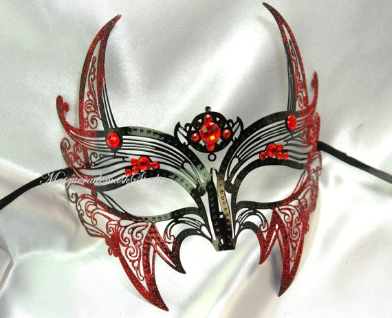 Red Devil Venetian Masquerade Mask