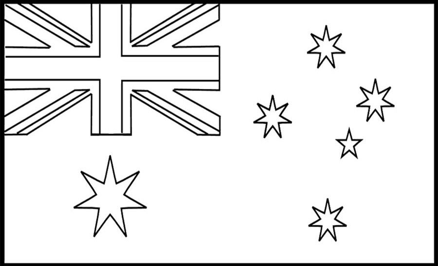 Coloring Pages Australia Flags Flag