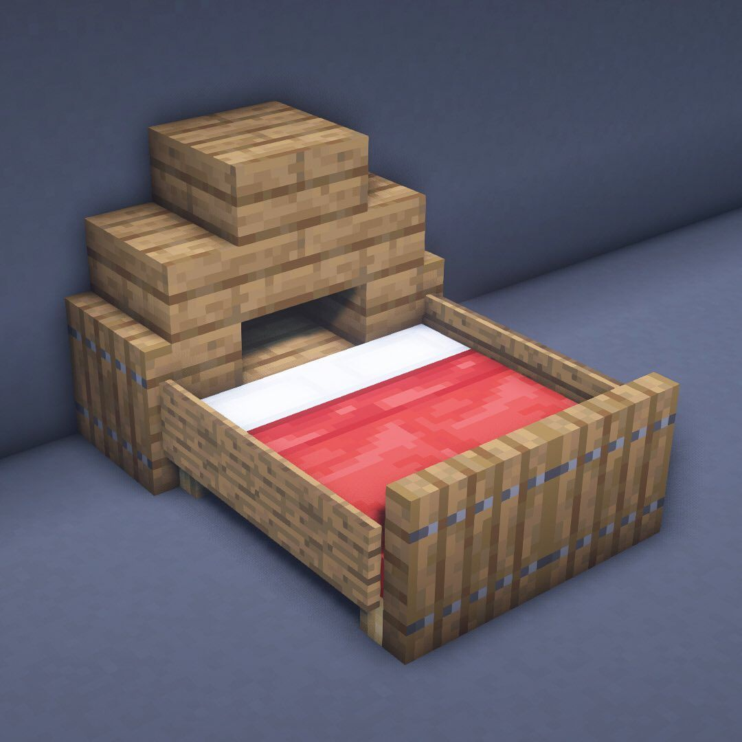Beds Are An Important Part Of Survival So Here Are A Few Bed Designs That Are Nice Looking And Even Include Some Minecraft Houses Minecraft Building Minecraft