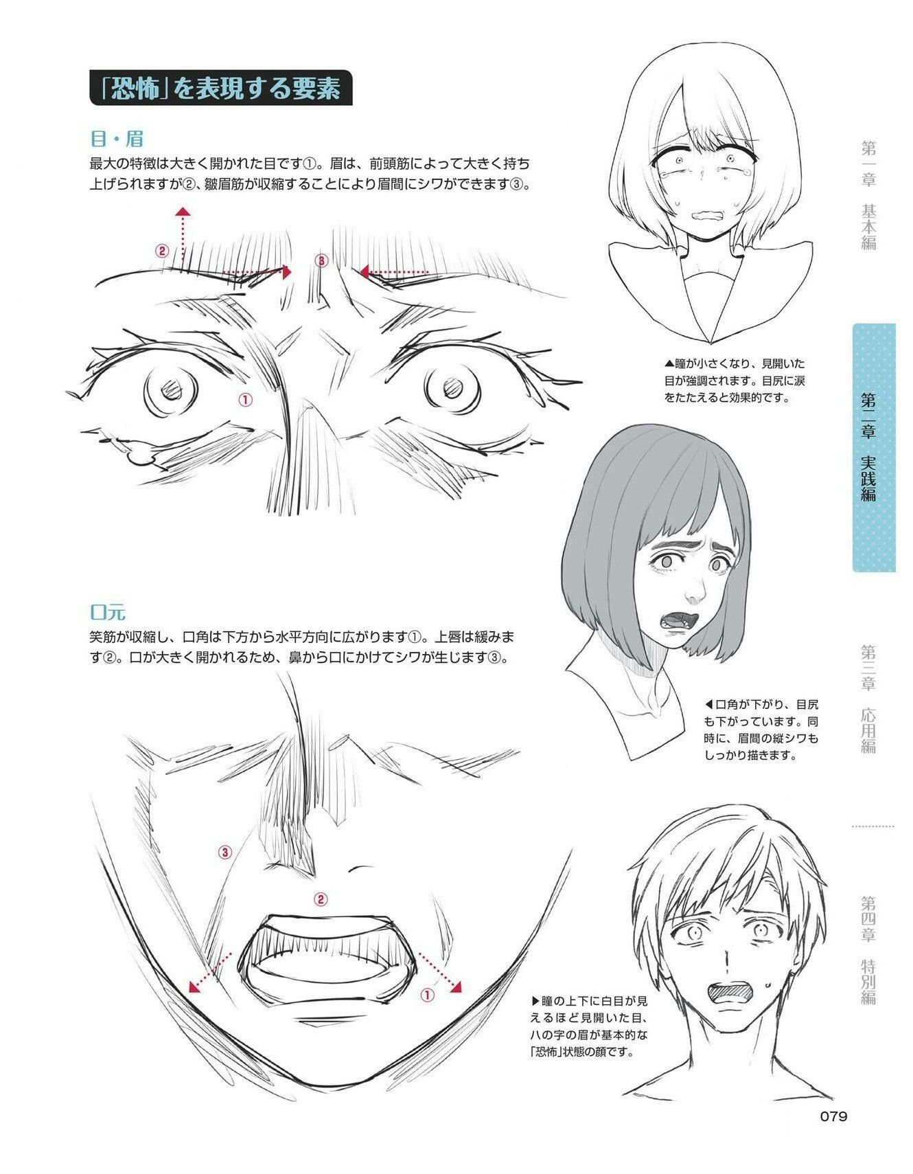 Scared Face Drawing Reference Scared Shocked Expressions Faces Anime Face Drawing Reference Drawing Expressions Drawing Face Expressions