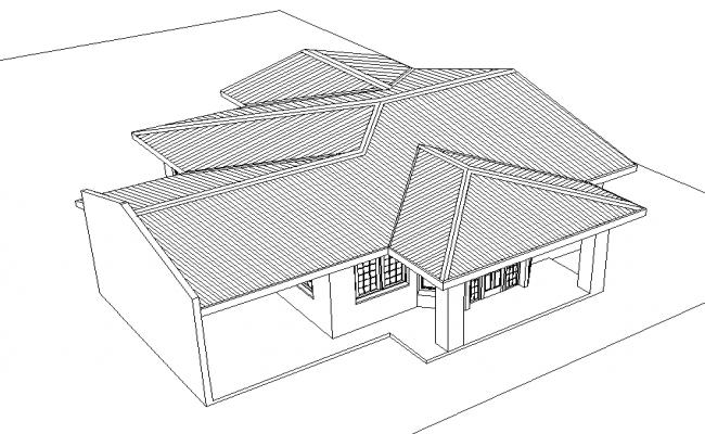 3 D Roof Family House Plan Detail Dwg File Family House Plans House Plans Family House