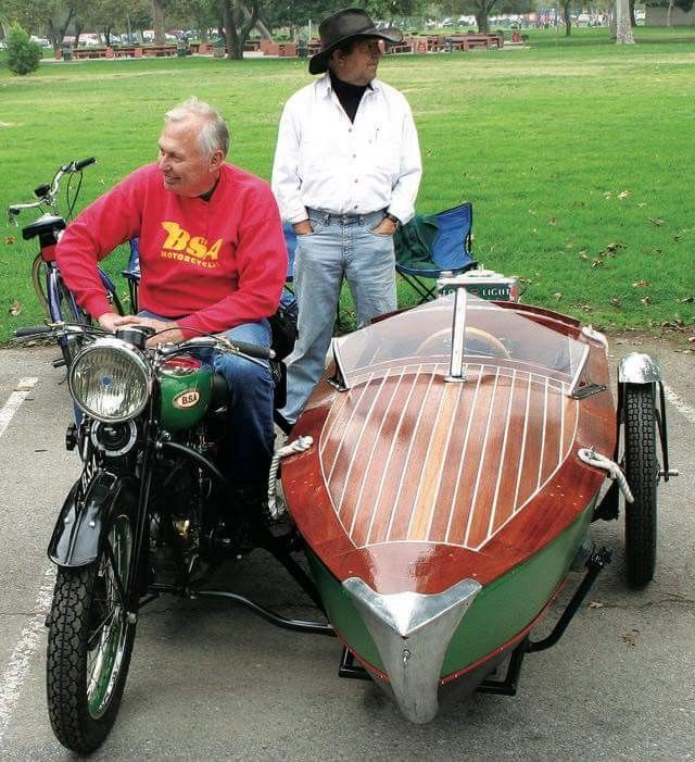 Bsa Bike With Vintage Boat Sidecar Sidecar Motorcycle