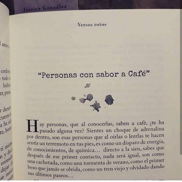 Versos De Libros: Personas Con Sabor A Café