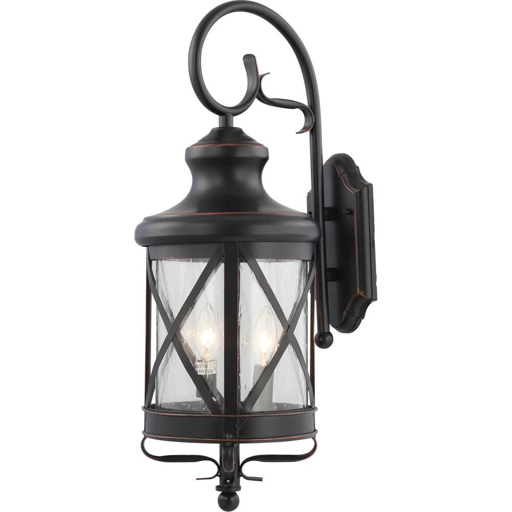 Volume Lighting Small 3 Light Black Copper Aluminum Indoor Outdoor Lamp Lantern Candle Style Wall Mount Sconce With Clear Seedy Glass V8683 46 In 2020 Candle Lanterns Sconces Outdoor Wall Sconce