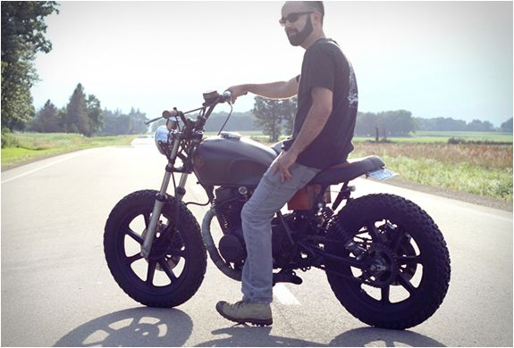 He Has Done An Awesome Job Turning This 1979 Yamaha XS400 Into A Brat Scrambler Hybrid