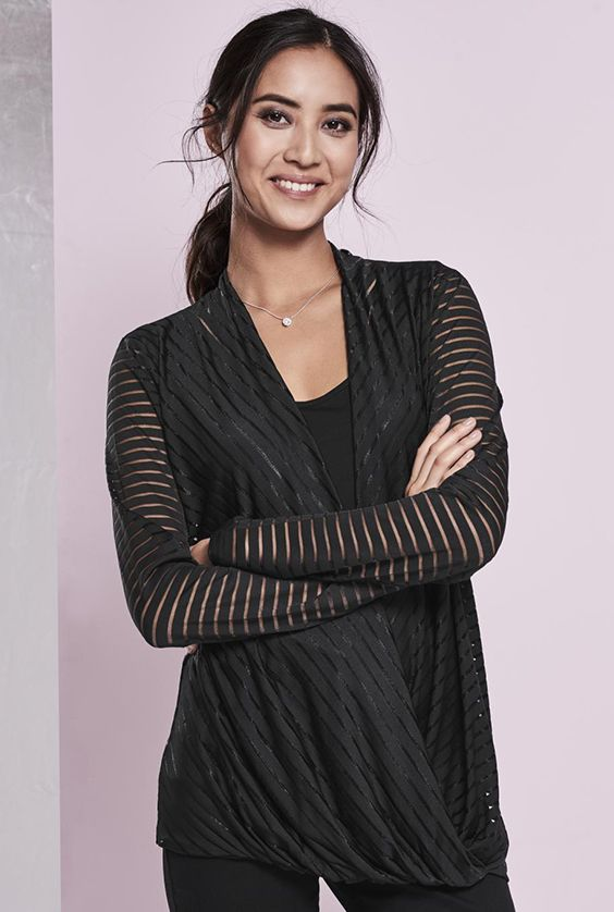 Burnout Wrap Top