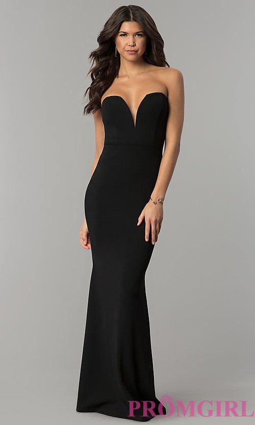 Strapless Low V-Cut Prom Dresses