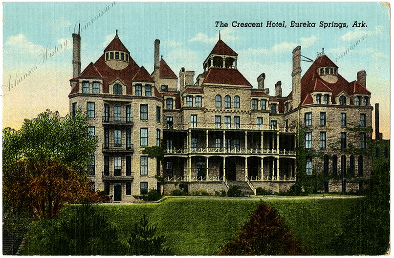 the crescent hotel in eureka springs is known as the most. Black Bedroom Furniture Sets. Home Design Ideas