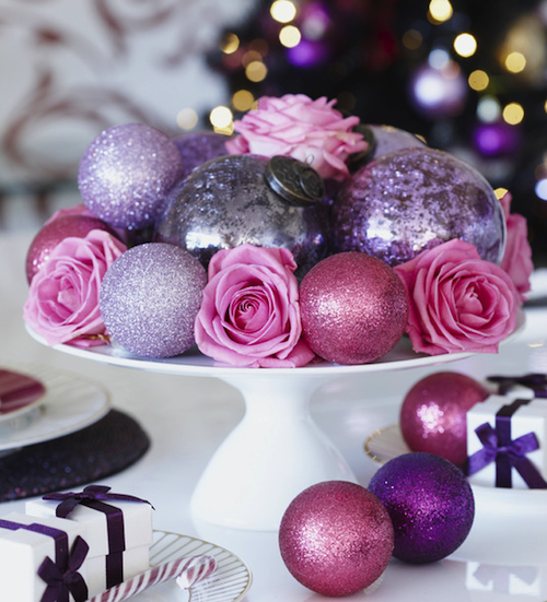 Purple Balls For Decoration Images Of Christmas Centerpiece With Clusters Of Christmas Balls