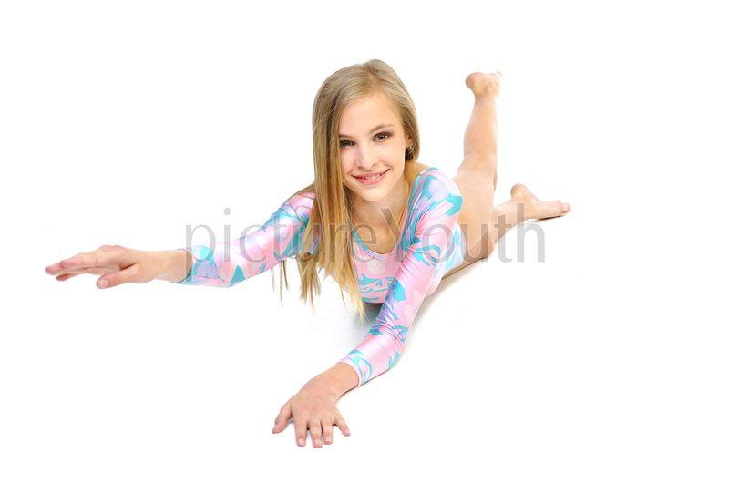 Teen model gymnast