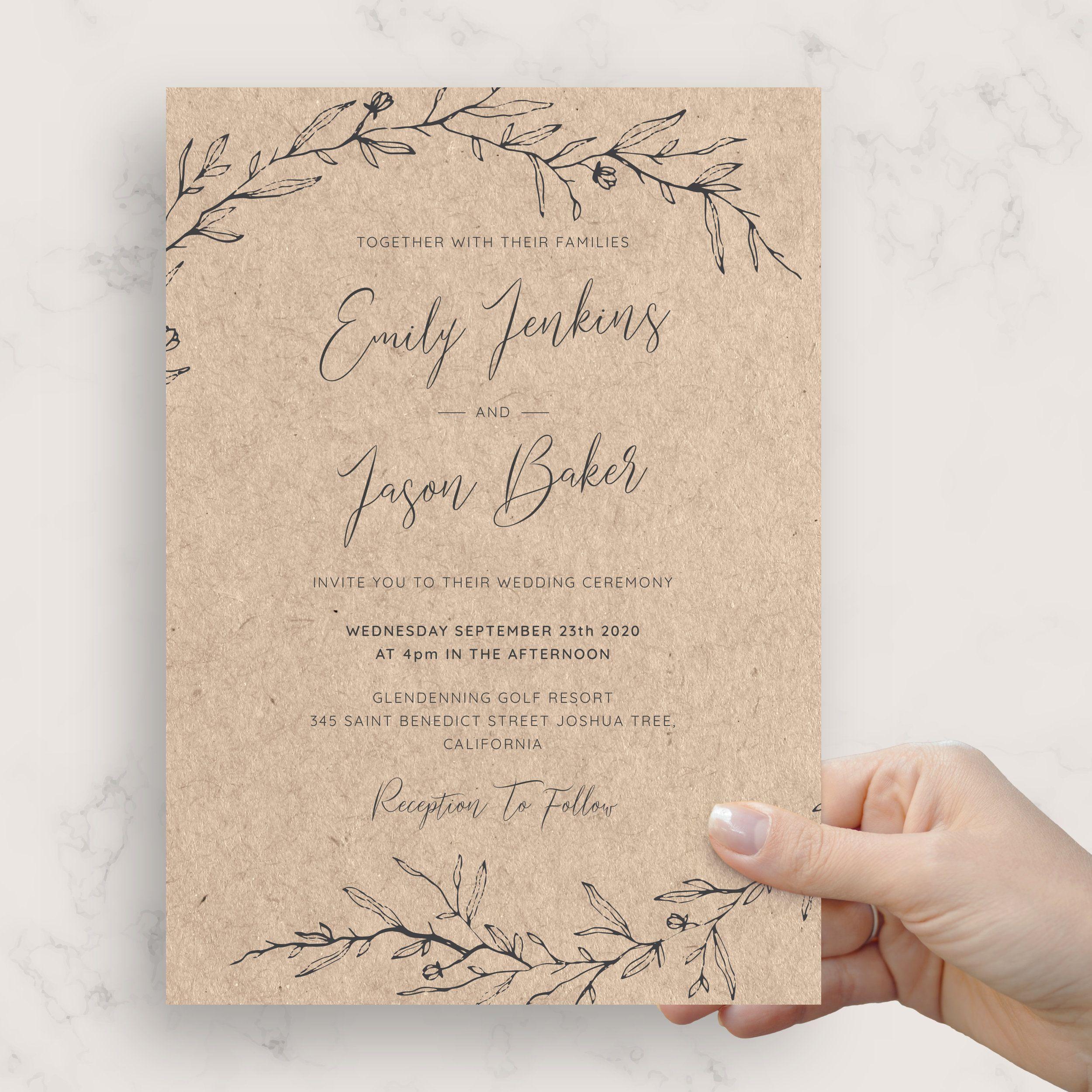 Vintage Wedding Invitation Templates Download Print In 2020 Wedding Invitations Rustic Wedding Invitations Diy Rustic Vintage Wedding Invitations Templates