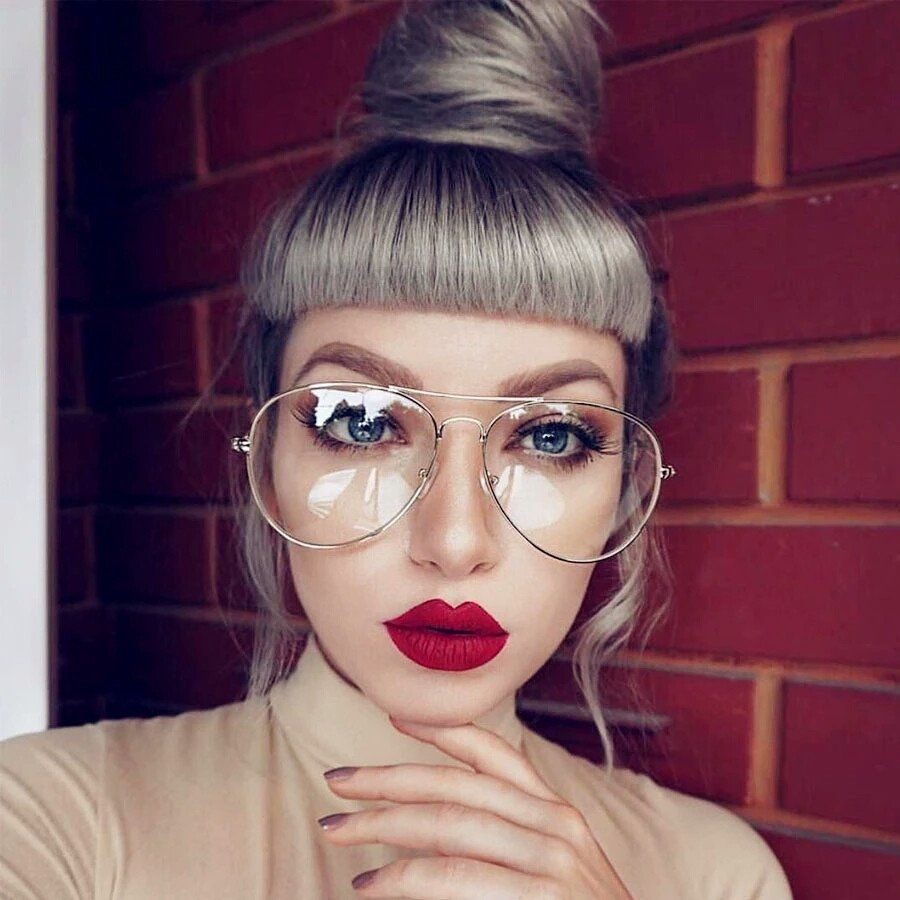 87b5a2b16a Fashion aviator glasses with clear lens!. Comes in 4 pretty colors! - High  quality alloy frames - Sturdy fashion glasses - Clear lens Ships in 12 days.