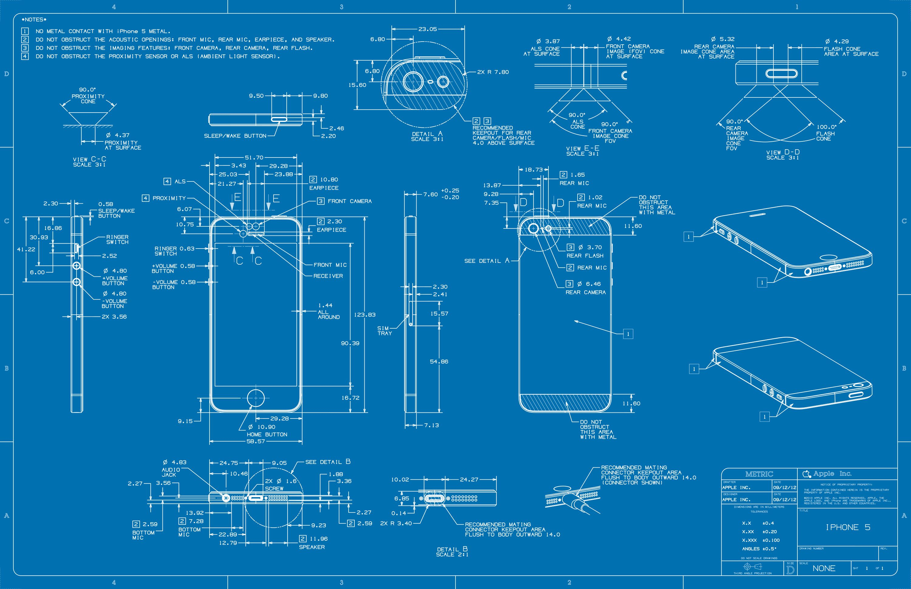 Mac spoilers iphone 5 dimensions blueprintsg 30001941 blueprints by apple malvernweather Gallery