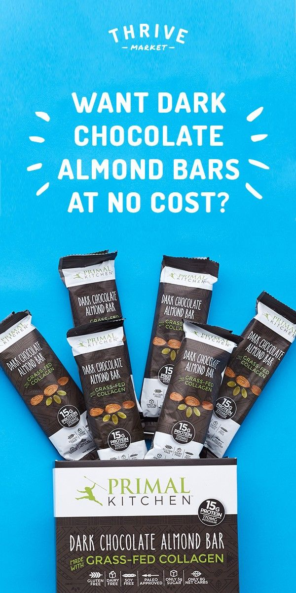 Ad Get Your Free 6 Pack Box Of Dark Chocolate Almond Bars At Thrive Market Today While Supplies Last