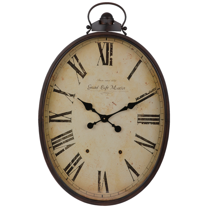 Get Oval Roman Numeral Metal Wall Clock Online Or Find Other Wall Clocks Products From Hobbylobby Com Metal Wall Clock Wall Clock Large Metal Clocks