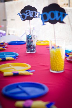 Superhero Birthday Kid's Table
