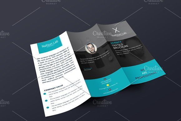 agency trifold brochure brochures brochure template and tri fold