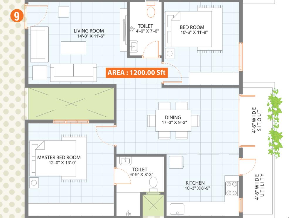 1200-layout.png (985×744) | 2bh plan | Pinterest
