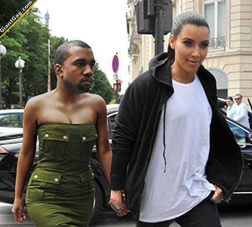 Kim Kardashian & Kanye West Face Swap, Click the link to view today's funniest pictures!
