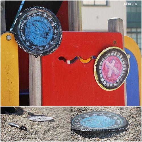escudos hechos por los niños