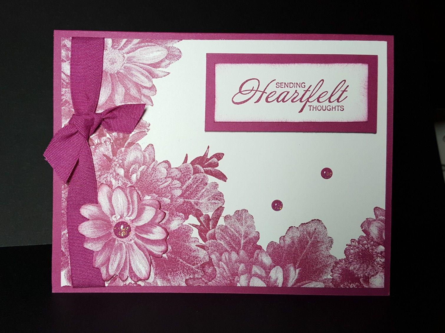 Card Made With Heartfelt Blooms Free Stamp From Stampin Up