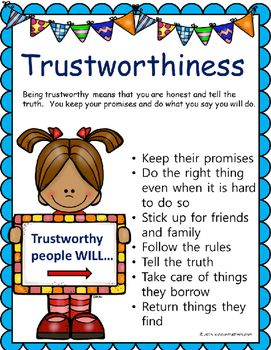 trustworthiness definition for kids