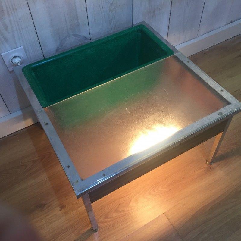 Table Basse Jardiniere Lumineuse De Georges Frydman Pour Efa 1960 Table Basse Table Basse Lumineuse Lumineux